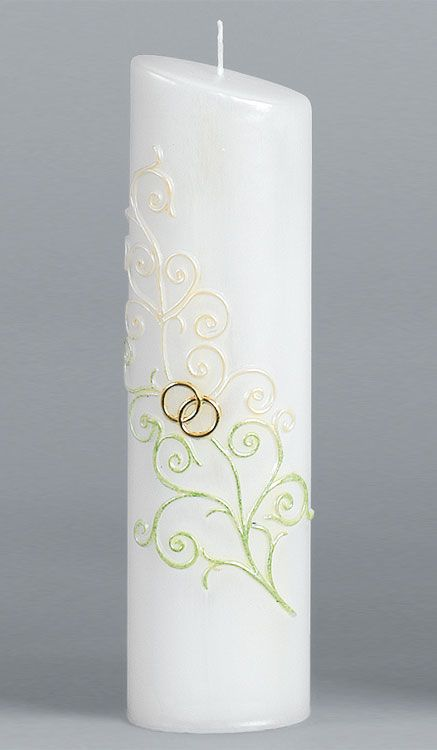 Hochzeitskerze 2248 Oval 240x65x45 Gold Abverkauf Kerzen