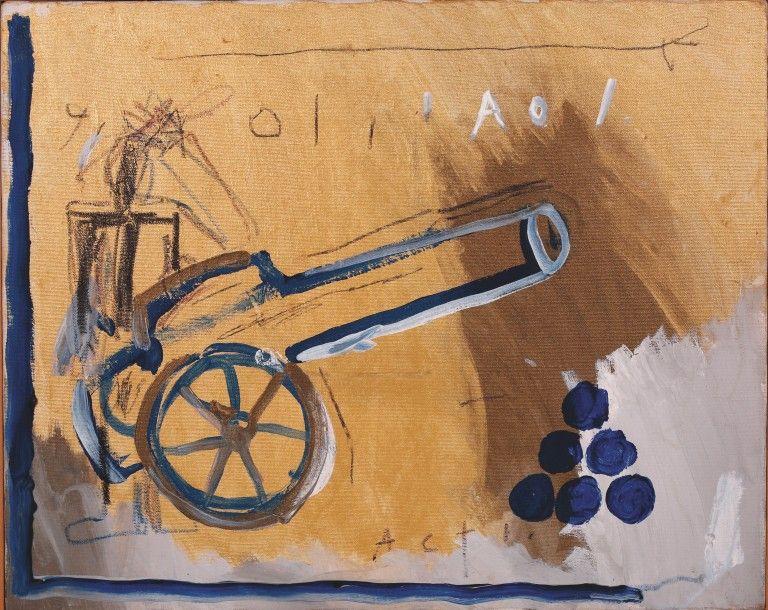 Jean-Michel Basquiat (1960-1988), Cannon (Act 1), 1981, acrylique sur toile. Frais compris : 620 960 €.  © The Estate of Jean-Michel Basquiat/ADAGP, PARIS 2016 Samedi 12 décembre, 6, avenue Hoche. Cornette de Saint Cyr maison de ventes SVV.