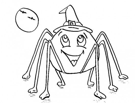 11 Pics Of Halloween Scary Spider Coloring Pages   Scary Spider . Photo