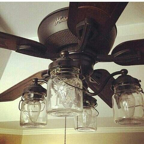 Mason Jar Light Kit For Ceiling Fan With Vintage Pints Ceiling Fan Light Kit Rustic Ceiling Fan Ceiling Fan With Light