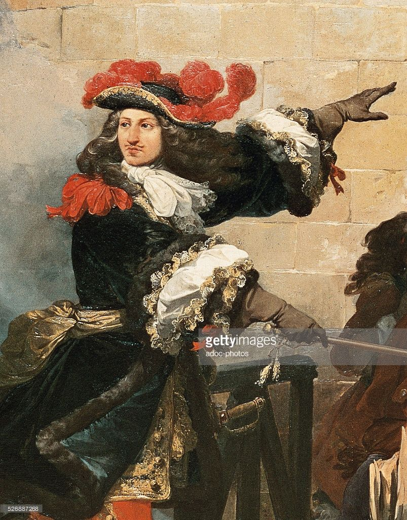 'The taking of Valenciennes by the King Louis XIV, on March 17, 1677'  (detail). Oil on canvas by Jean Alaux, called le Romain (1786-1864). In  1837.
