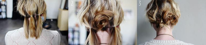 Recogido en cabello corto