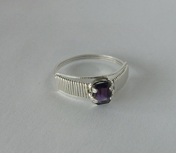 Handmade Sterling Silver Wire Wrapped Ring with by MystikCritterZ ...