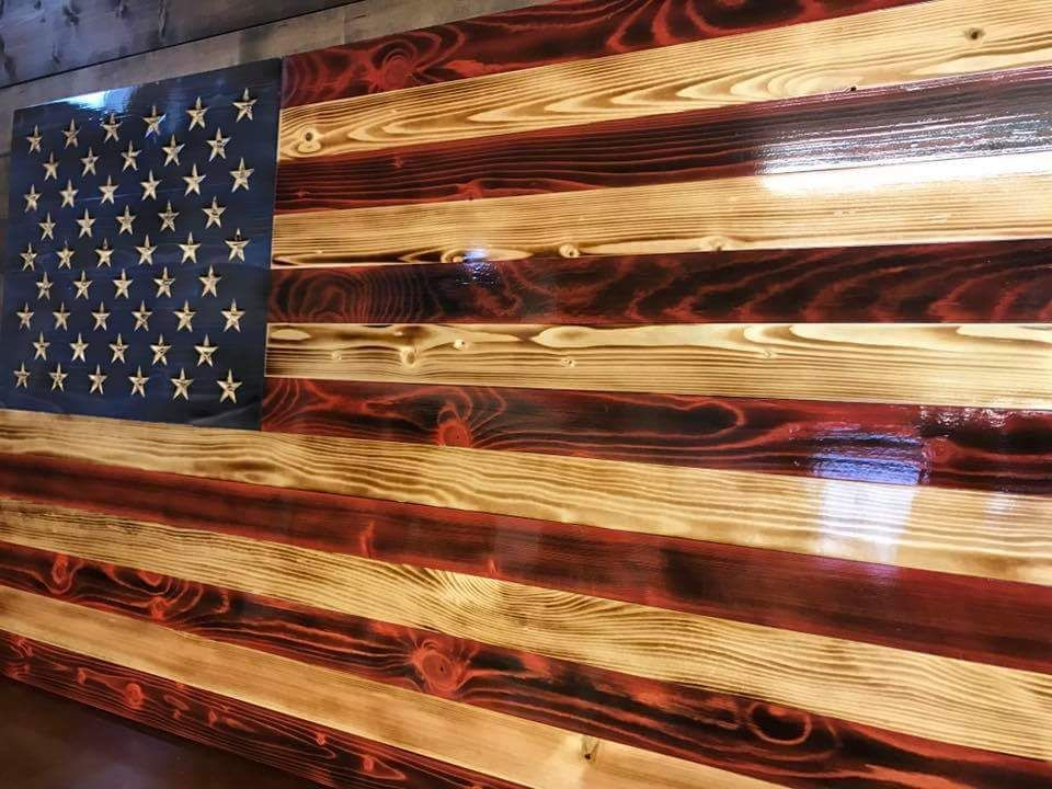 The Beauty Of Burned And Stained Wood American Flag Wood Wood