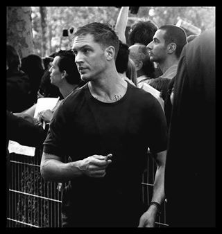 Tom Hardy looking hot in Black and White!