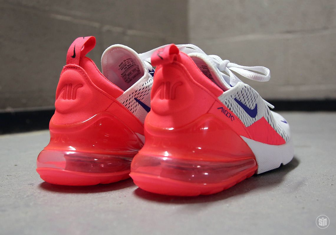 2a425171a7 Nike Air Max 270 White Ultramarine Solar Red AH6789-101 | SneakerNews.com