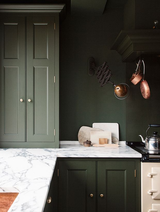 Bored Of White Kitchens? Discover The Cabinet Color Trending Now ...
