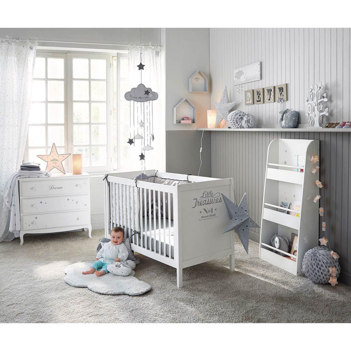 2 étagères murales en bois blanches H 30 et H 35 cm SONGE | Maisons ...
