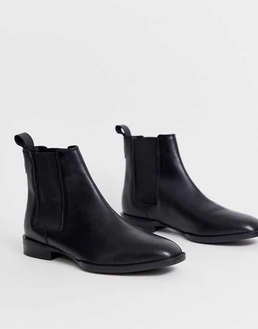 ASOS DESIGN April leather chelsea boots