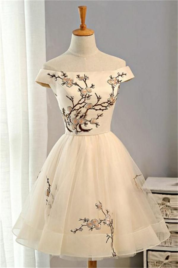 573bfce12ca Classy Off The Shoulder Lace Up Short Simple Homecoming Dresses Z1033