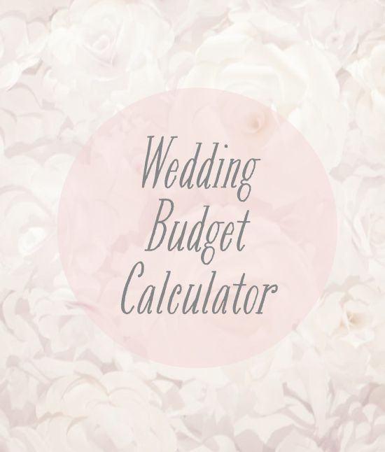 Wedding Budget Calculator  IM Going To Have A Field Day With