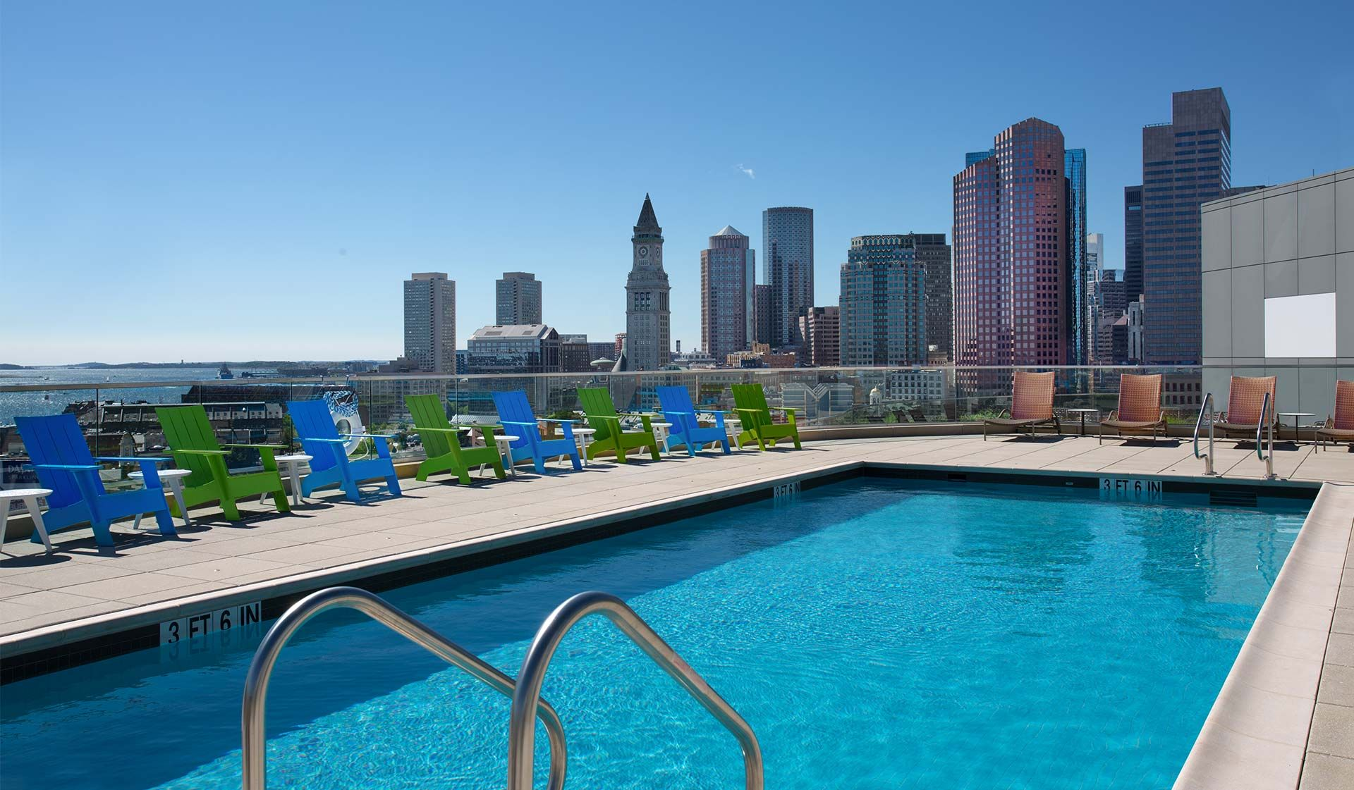 Take A Swim In The Rooftop Pool While Taking In The Views Rooftop Pool Pool Swimming Pools