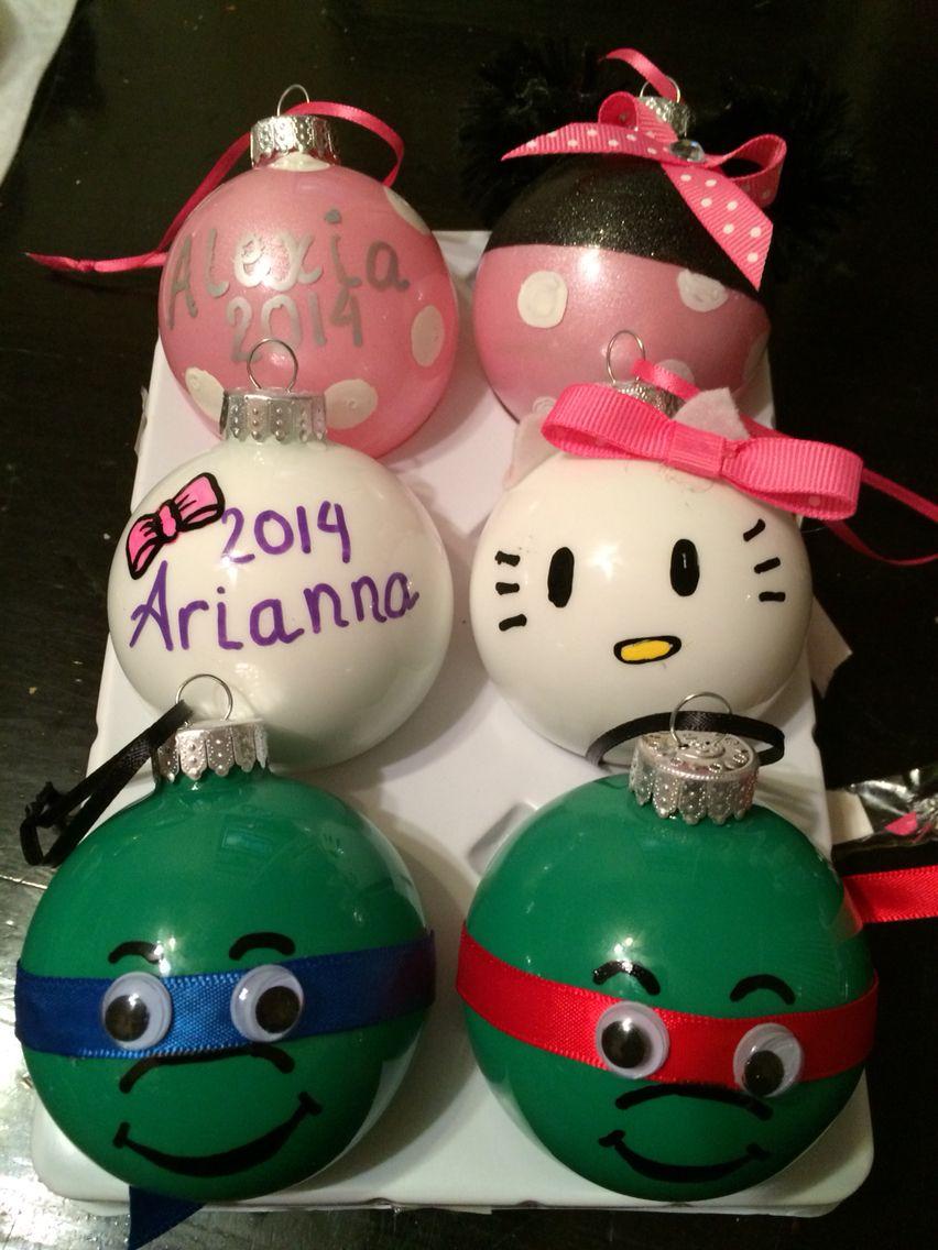 Christmas Ornaments; Minnie Mouse, Hello Kitty & Ninja