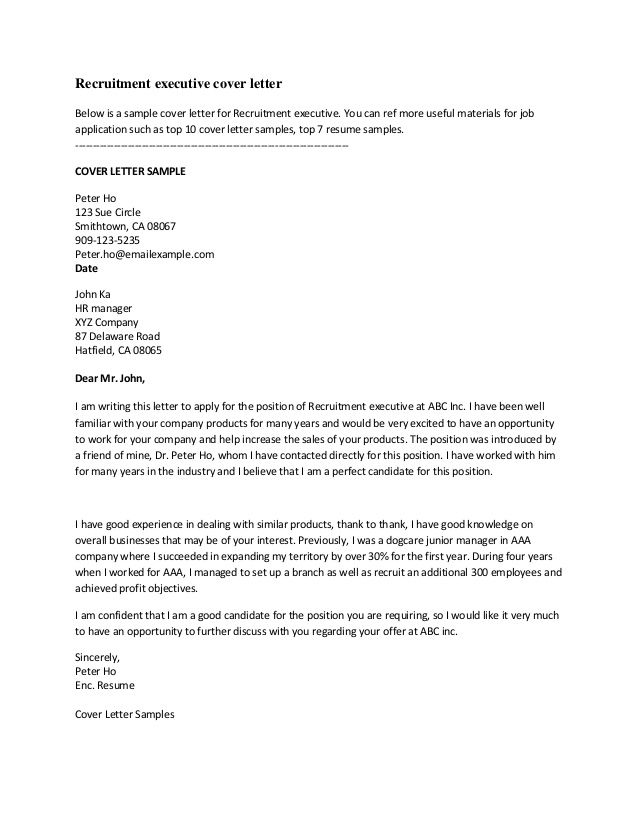 Great Cover Letter Examples great cover letter examples september
