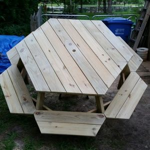Sided Picnic Table Deco Pinterest Picnic Tables DIY - 6 sided picnic table