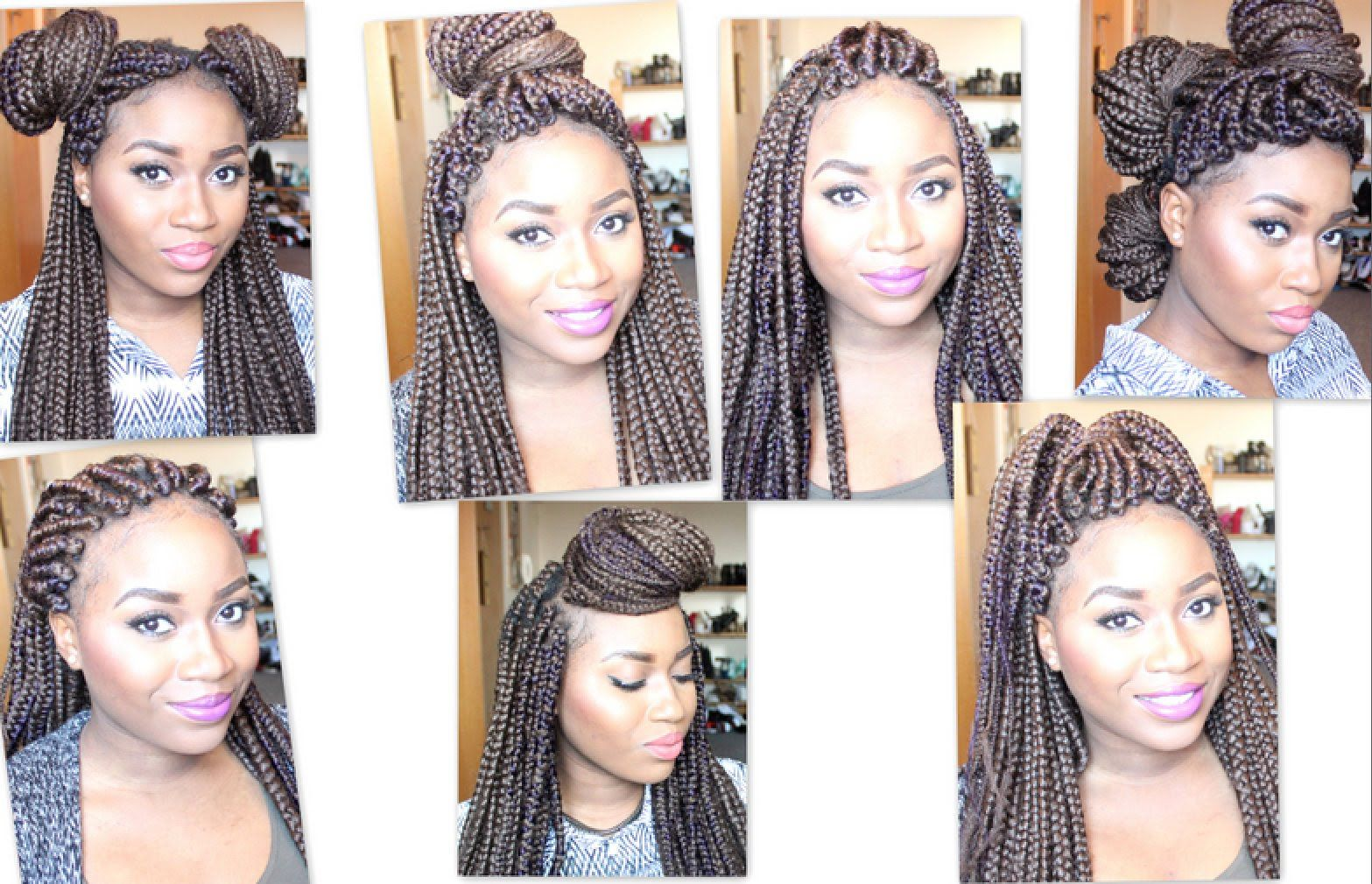 How to style Heavy Box Braids, 7 styles for 7 days [OLD