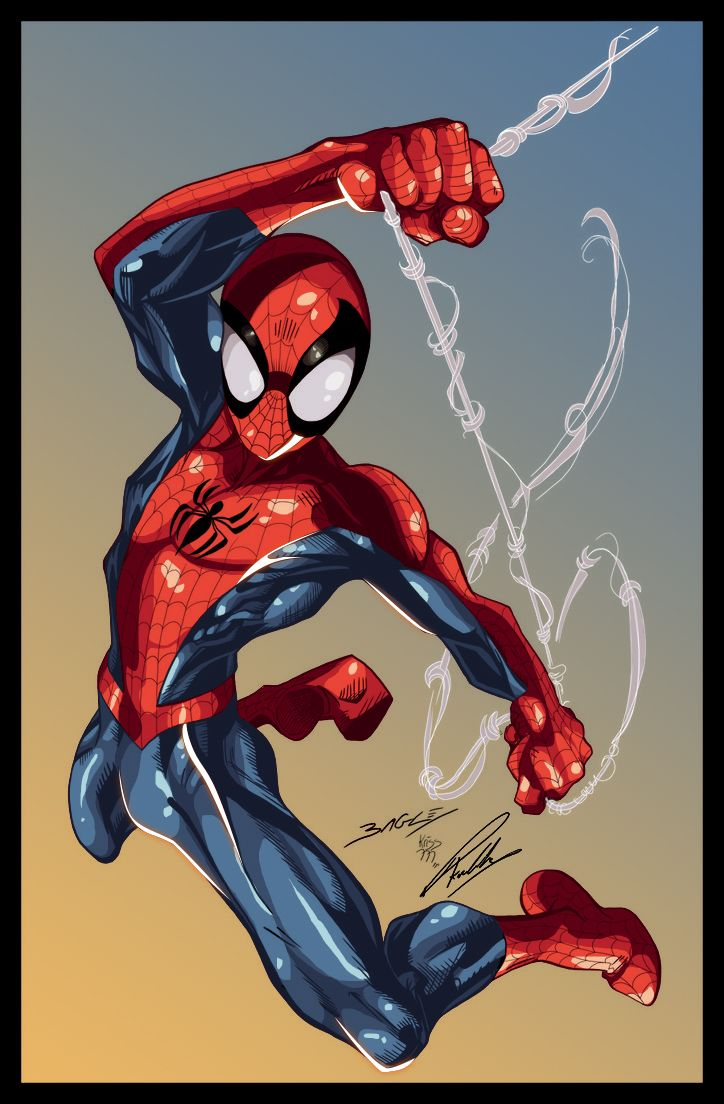 #Ultimate #Spiderman #Fan #Art. (Mark Bagley Ultimate spider man) By: Przemo85. (THE * 5 * STÅR * ÅWARD * OF: * AW YEAH, IT'S MAJOR ÅWESOMENESS!!!™)[THANK Ü 4 PINNING!!!<·><]<©>ÅÅÅ+(OB4E)