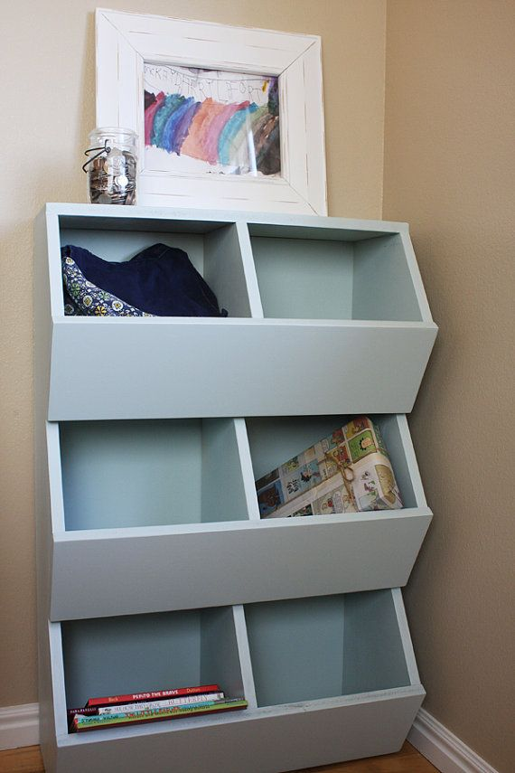 Merveilleux 6 Bin Storage Shelf Woodworking Plans By Irontimber On Etsy