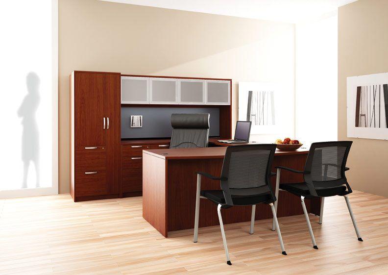 Cherry Executive Desk Office Furniture Layout Furniture Depot