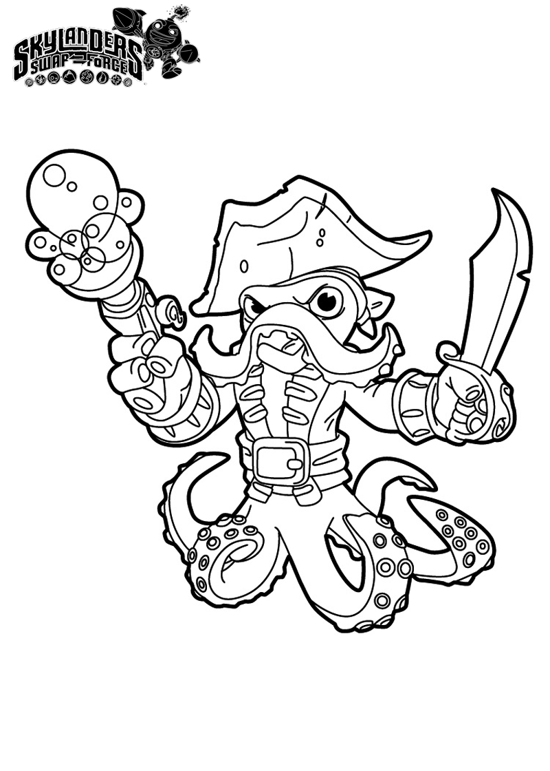 Skylanders Swap Force Coloring Pages