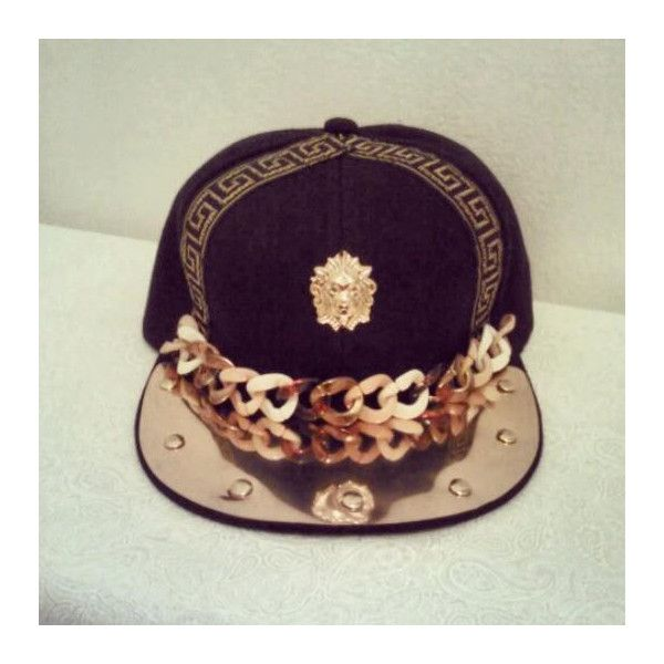 Dope Custom Versace Snapback ( 30) ❤ liked on Polyvore featuring  accessories 4efa92783d8