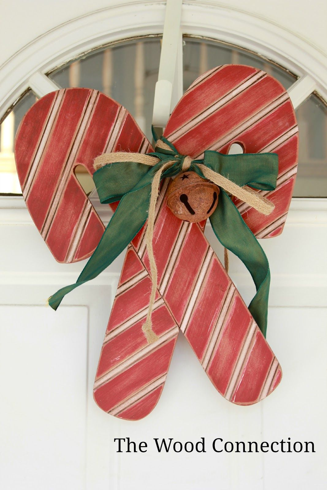 The Wood Connection Candy Cane Door Hang