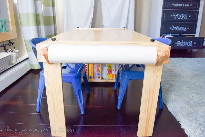 One Room Challenge Week 6 A Shared Boys Bedroom Reveal Plus An Exciting Announcement Kids Craft Tables Diy Kids Table Craft Table