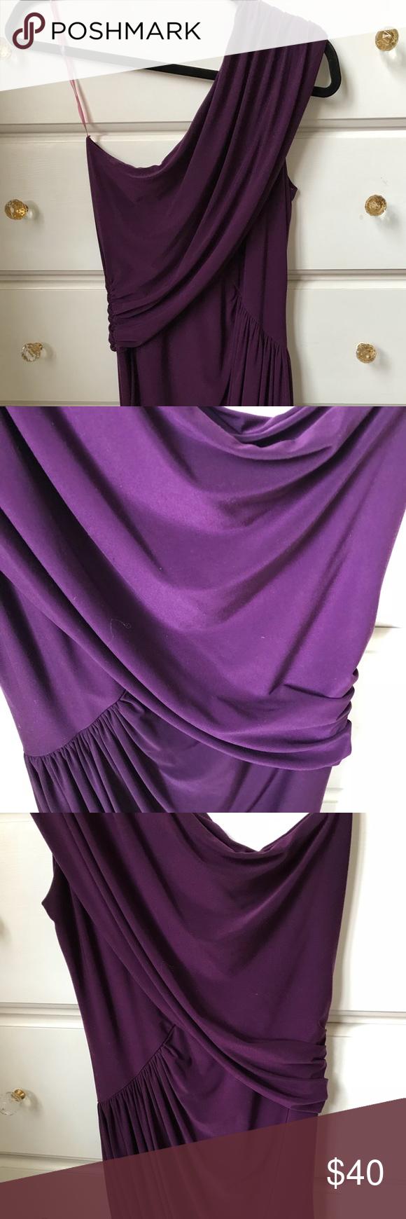 Aqua Purple Bodycon One Shoulder Cocktail Dress Aqua brand cocktail ...
