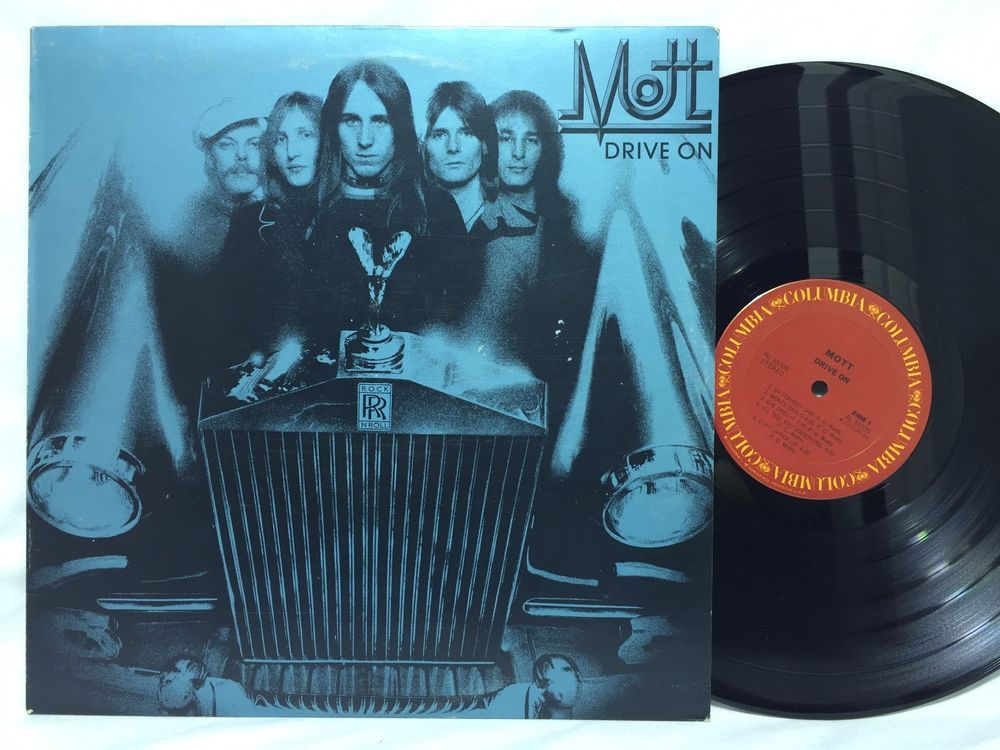 Mott The Hoople Drive On Columbia Label Lp Vinyl Record Vinyl Records Mott The Hoople Hoople