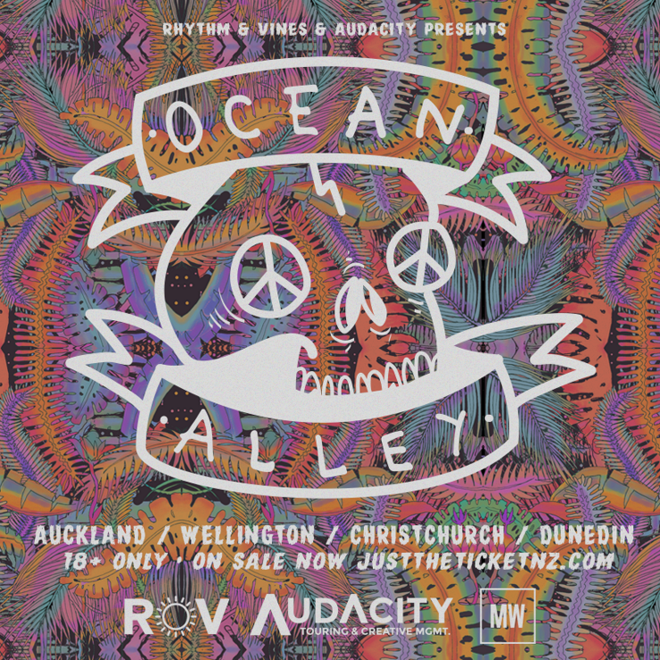 Just The Ticket Ocean Alley Wellington Poster Prints Band Posters Hippie Art