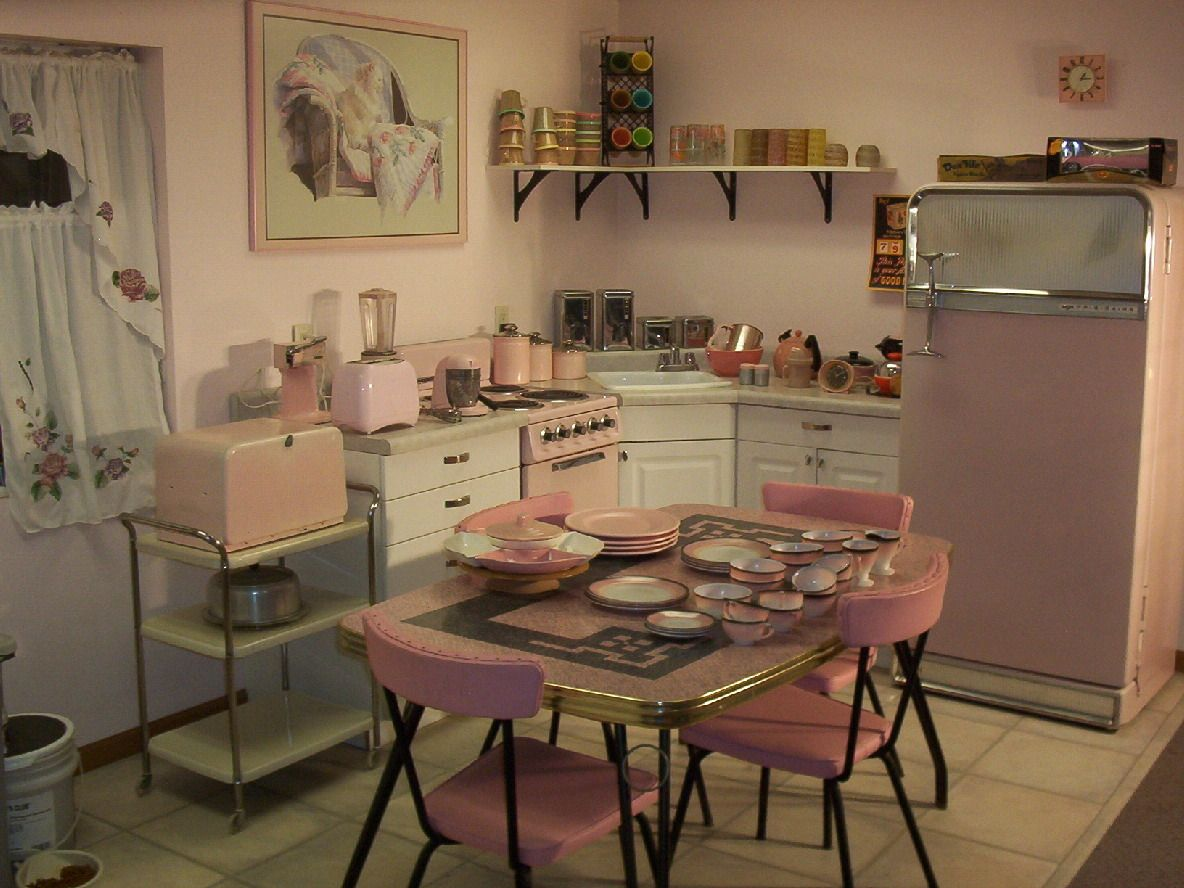 Retro Kitchens best 25+ retro pink kitchens ideas on pinterest | vintage stuff