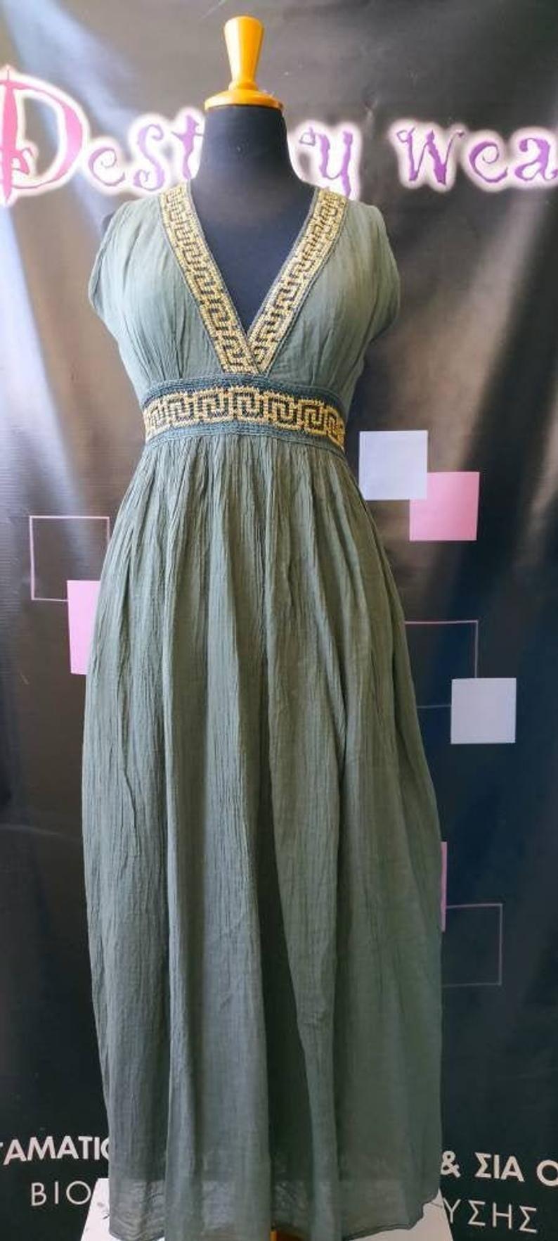Antike griechische Kleid, Baumwollkleid, antike griechische