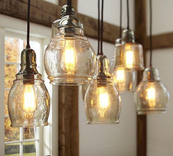 Paxton Glass 8 Light Pendant Kitchen Pendant Lighting Pendent