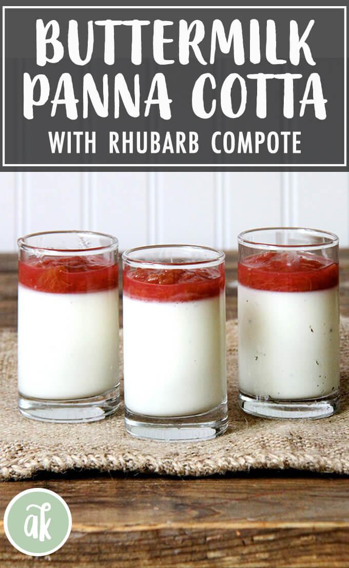 Buttermilk Panna Cotta With Rhubarb Compote Alexandra S Kitchen Recipe Panna Cotta Rhubarb Compote Rhubarb