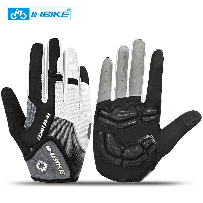 I Kua Fly Cycling Gloves Full Finger Mountain Bike Gloves Gel Padded Touchscreen