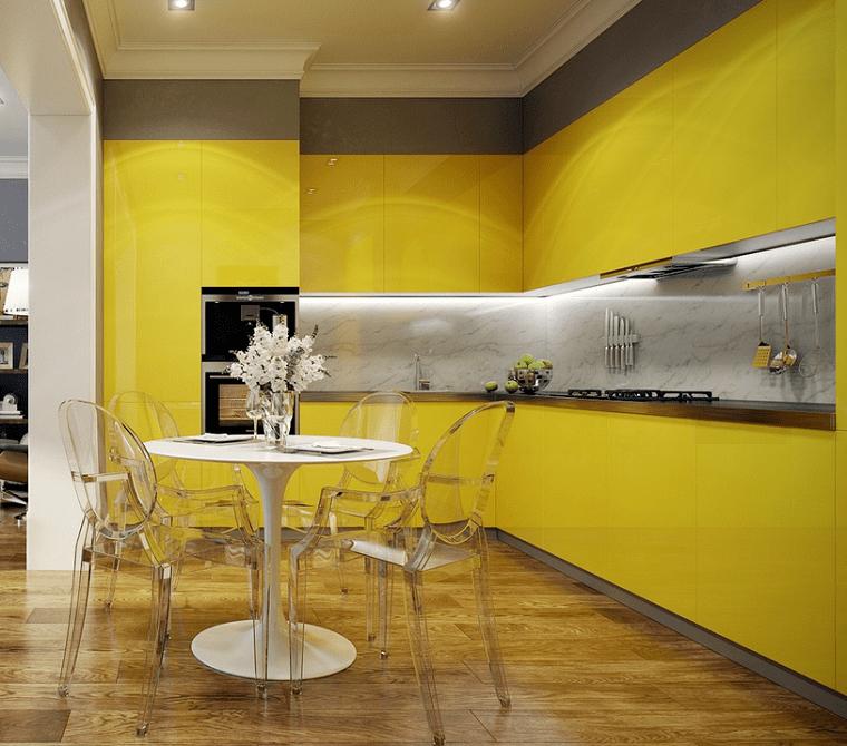 Decoracion Moderna En Amarillo Para La Cocina 20 Ideas Muy Originales Nuevo Decoracion Decoracion Moderna Decoracion De Comedor Moderno