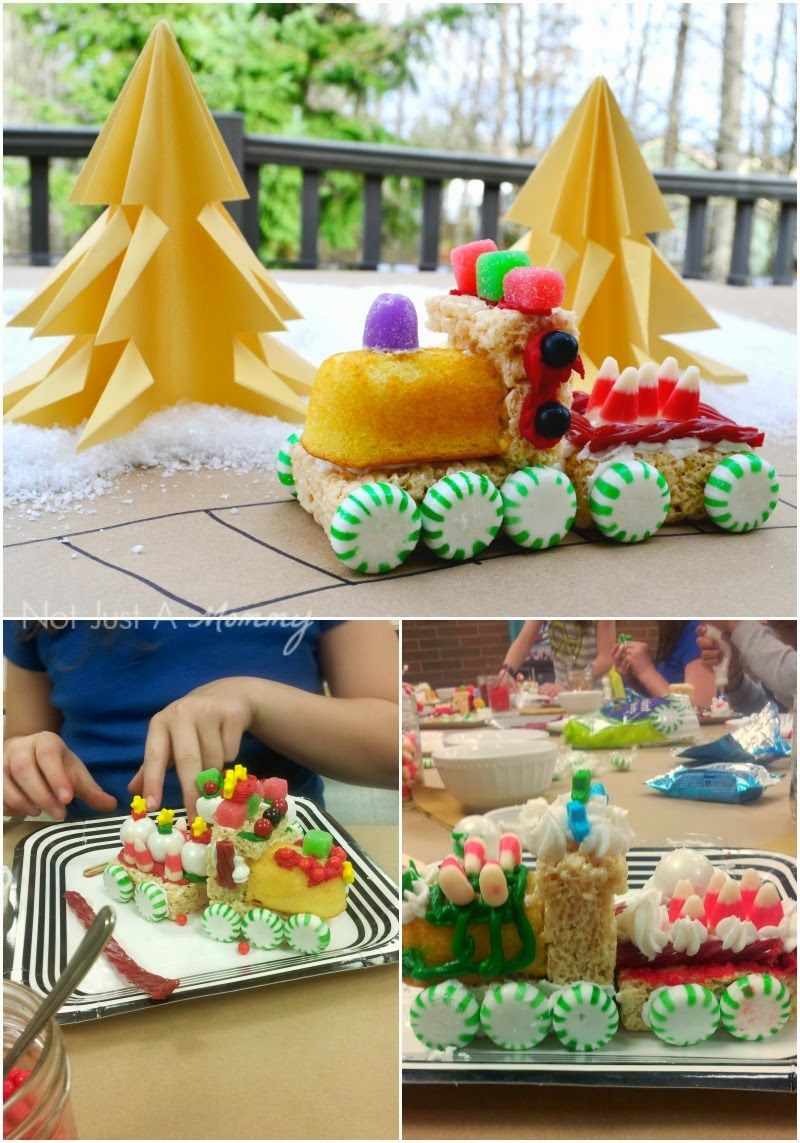 Tuesday Tutorial - No Bake Christmas Trains | Not Just A Mommy