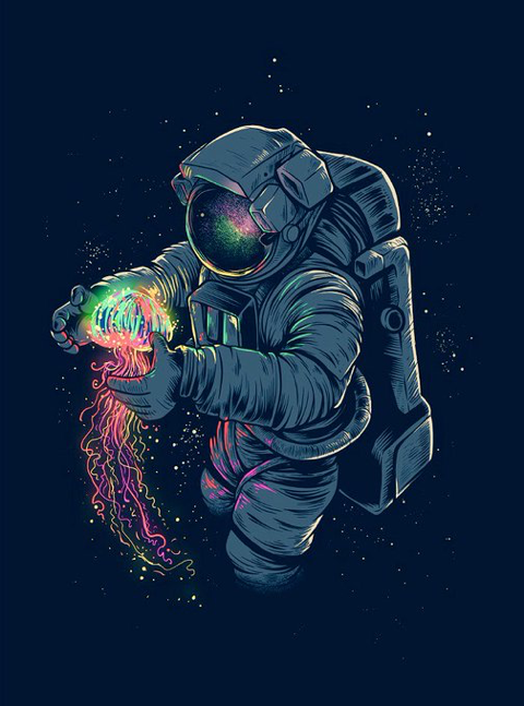 wallpapers trippy astronaut surfer - photo #7