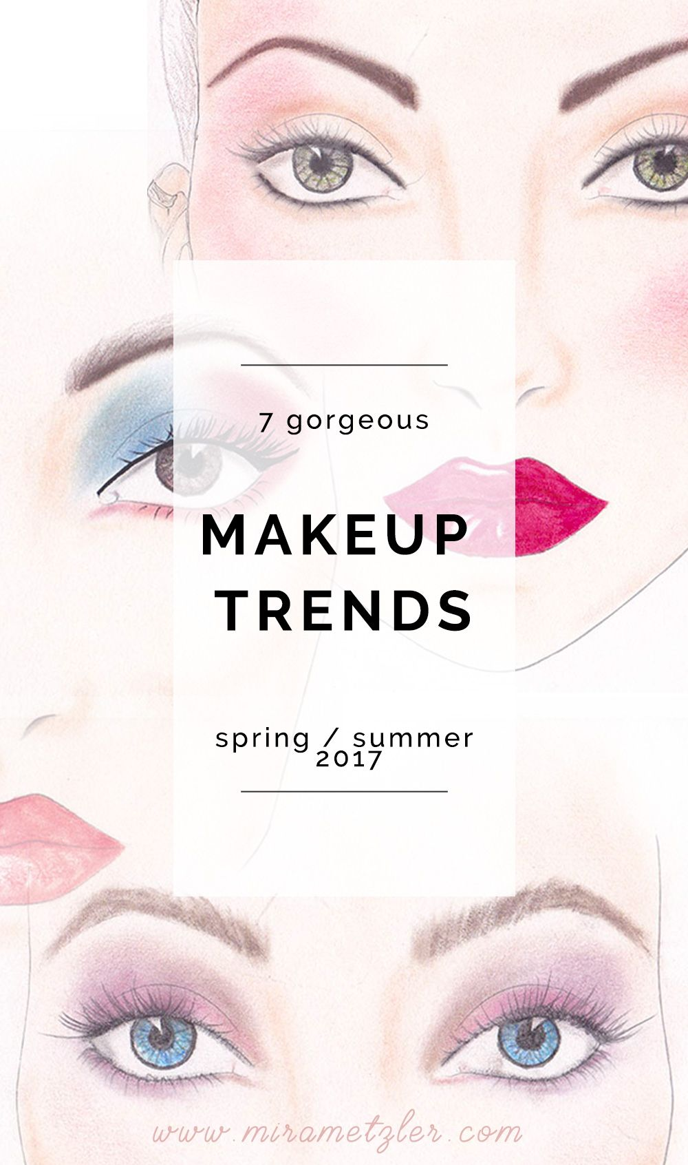 As the temperature gets higher and the day longer, I start to feel like playing with makeup a bit more and have some colorful fun. Here are my 7 favorites.