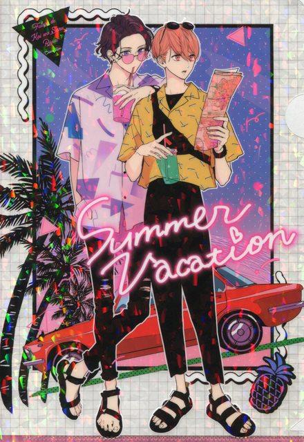 ふろく 愛慈 純 キラキラサマークリアファイル レトロなイラスト 日本美術 かわいいアニメガール