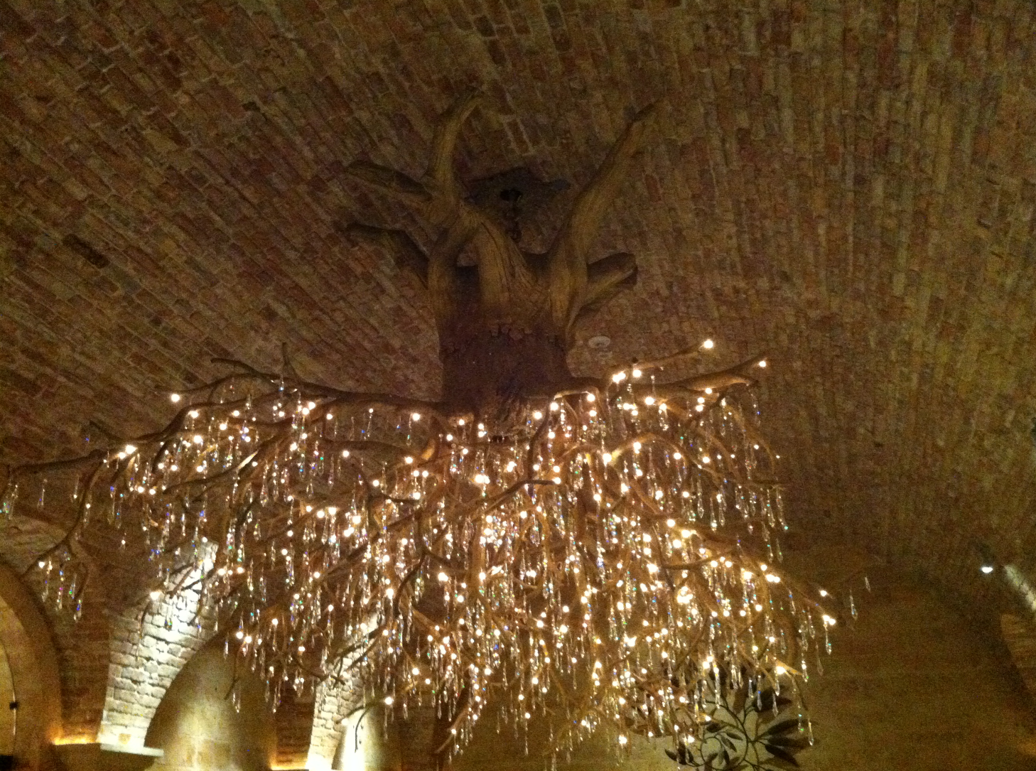 Most amazing tree trunk chandelier ever in wine cave at hall most amazing tree trunk chandelier ever in wine cave at hall vineyards in napa arubaitofo Image collections