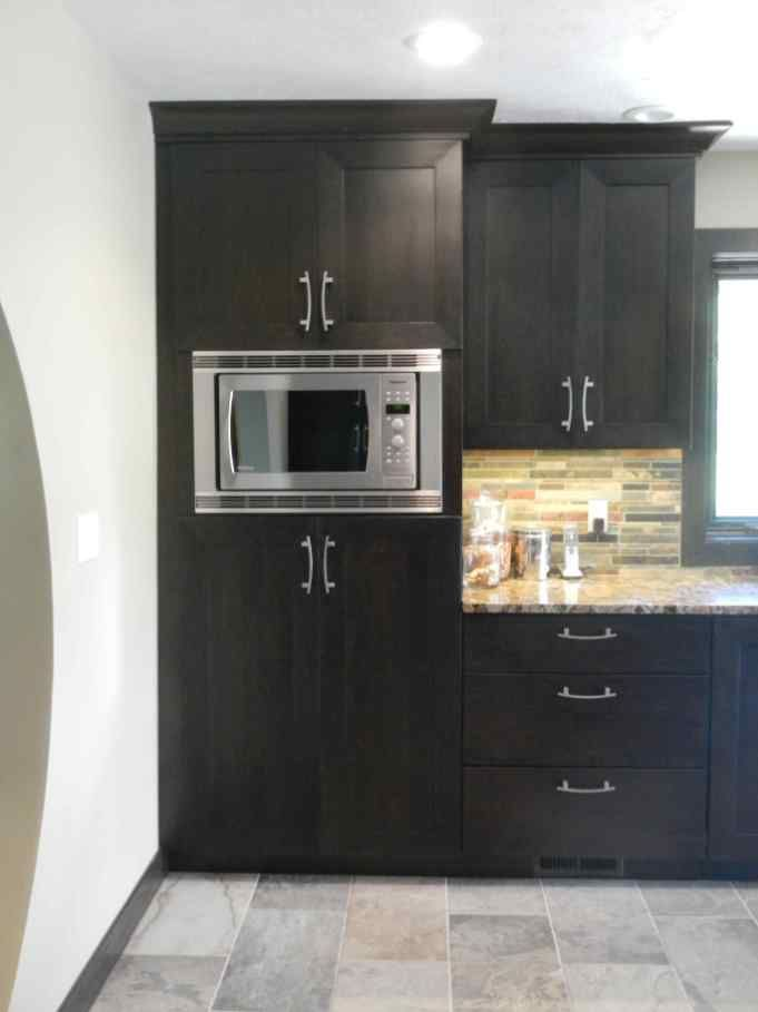 Built In Microwave Cabinet Diy Inspirational Integrated ...
