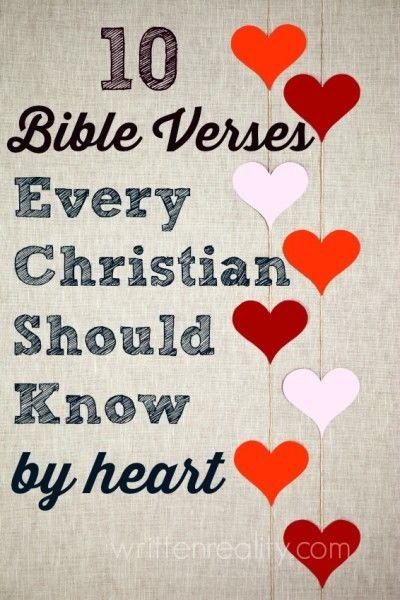 Memory Verses: 10 Bible Verses Every Christian Sho