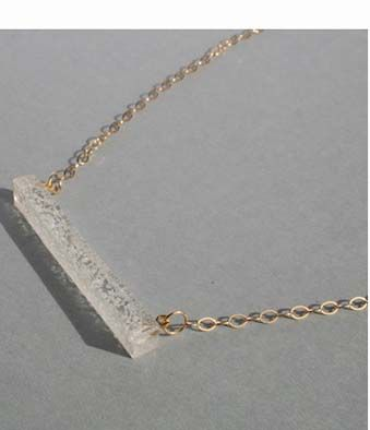 Look through HJ Designs - Plexi Bubble Bar Necklace and imagine the ocean #jewelry #handmade #wholesale  http://www.shoptoko.com/shop/brand/hj-designs