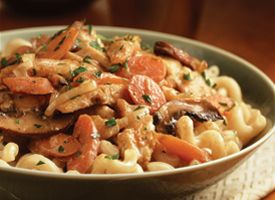 Savory Turkey Stroganoff  http://www.eatbetteramerica.com/recipes/30-minutes-or-less/savory-turkey-stroganoff.aspx