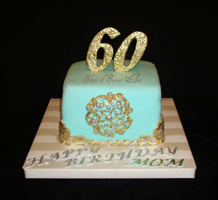 Mom S 60th Birthday Cakes 60th Birthday Cakes