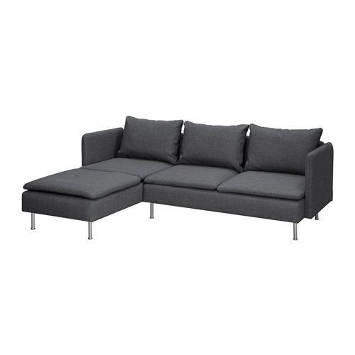 2er sofa ikea  GRÄVSTA 2er-Sofa mit Récamiere IKEA Die Récamiere kann links oder ...