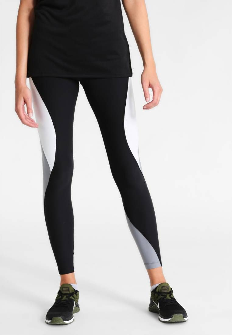 796d910263087 Nike Performance. POWER LEGEND - Tights - black/pure platinum/cool grey.  Outer fabric material:88% polyester, 12% spandex. Care instructions:machine  wash at ...