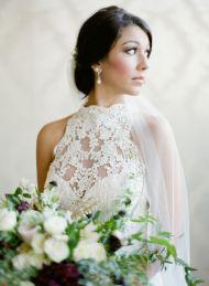 Indoor Bridal Session + Sleeveless Lace Dress