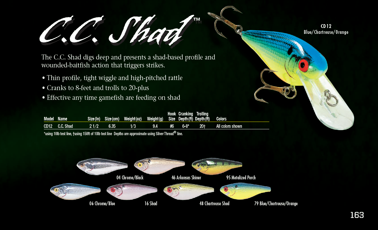 Cotton cordell cc shad 2017 color chart fishing pinterest cotton cordell cc shad 2017 color chart nvjuhfo Image collections
